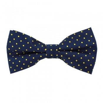 Blue Polka Dot Bow Tie